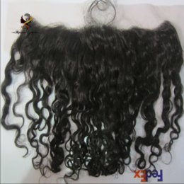 Dhgate Curly Hair NZ - Good Quality Human hair lace frontal closure ang DHgate No tangle no shedding hot sale unprocessed virgin human hair with center parting