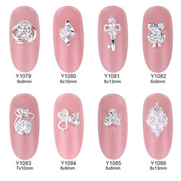 Owl nail art online shopping - 10pcs crystal stones nails nail art decorations Zircon glier flower alloy owl charms key design strass ongle nails Y1079