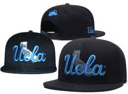 268f04d329d NCAA UCLA Bruins Caps 2018 New College Adjustable Hats All University  Snapback in stock Mix Match Wholesale Order Black Blue one size