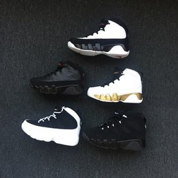 31f7361c66a7 New 9 IX Bred LA Kids Basketball Shoes Space Jam Barons GS Black Oero  Sports Sneakers for Boys Girls 9s Shoes