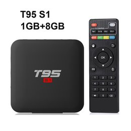 Discount netflix android - 14pcs Original T95 S1 1GB 8GB android 7.1 tv box Amlogic S905W support StbEmu Youtube Netflix