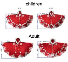 little red riding hood costume NZ - Wholesale Promotion Christmas Halloween New Year Holiday Parent-child Family Set Combination Little Red Riding Hood Shawl Christmas Costume