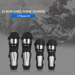 Knee Skateboard NZ - 4pcs Elbow Knee Pads Protector Protective Gear Set for Motorbike Motocross,Cycling,Skiing,Snowboarding,Skating,Racing,Skateboard