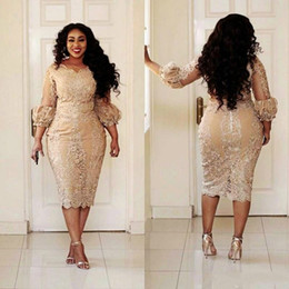 $enCountryForm.capitalKeyWord NZ - Sexy 3 4 Long Sleeve Dubai Sheath Evening Dresses Gowns African Arabia Plus Size 2018 Mother Formal Wear Party Prom Dresses Robe De Soiree