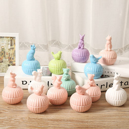 sugar pots 2019 - Colored porcelain small animals jewelry box earrings necklaces accessories storage boxes ceramic sugar pot discount suga
