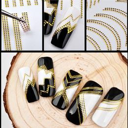 $enCountryForm.capitalKeyWord NZ - efero Gold Metal 3D Nail Stickers Mixed Design Nail Sticker Paper DIY Beauty Art Adhesive Transfer Sticker Decorations