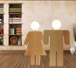 $enCountryForm.capitalKeyWord UK - Wooden LED table lamp wedding couple humanoid trim bedside lamp bedroom living room lamps hotel free shipping