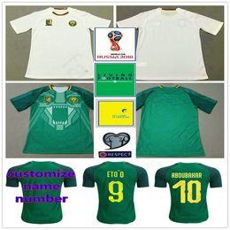 b54d2e2891c 2018 World Cup Cameroon Soccer Jersey Eto o Vincent Aboubakar Clinton  Benjamin Moukandjo Custom Green White Cameroun Football Shirt
