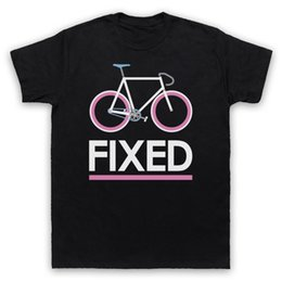 Neck Gear Australia - FIXED GEAR BICYCLE FIXIE RETRO STYLE BIKEER RIDING CYCLE MENS WOMENS KIDS T-SHIRT Fashion Men T Shirts Round Neck