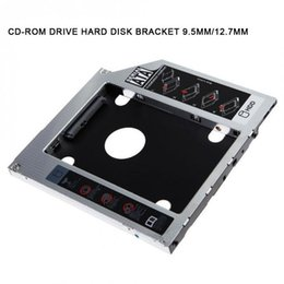 Wholesale Neue 9,5 mm / 12,7 mm SATA HDD SSD Festplatte CD-ROM Halterung Caddy Bay für MacBook Windows QJY99