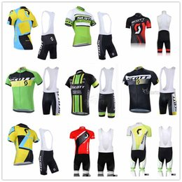Scott Bikes Canada - SCOTT pro team men Cycling Jersey Sets Anti Wrinkle Cycling Shirts Breathable Summer Quick Dry Short Sleeve Mountain Bike Shirts Clothing