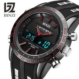 $enCountryForm.capitalKeyWord Australia - BINZI Luxury Watches Men Brand Sports Watches Led Digital Waterproof Watch Military Men's Quartz Wrist Watch Relogio Masculino S927