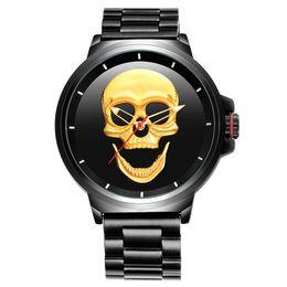 $enCountryForm.capitalKeyWord NZ - Male Unique Design Skull Watches Men Luxury Sports Quartz Military Steel Wrist Watch Pirates of the Watch