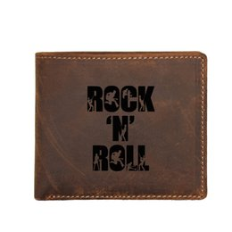 $enCountryForm.capitalKeyWord Australia - Stylish Rock N Roll Personalized Wallet Men Coin Purse Bags FRID Blocking card Holders Custom Name Genuine leather Small Wallet