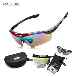 Buy Glasses Australia - MASCUBE Buy 1 Get 5pcs Lenses Sunglasses Sports Soccer Night Vision Glass Basketball Biking MTB Road UV400 Myopia Strap