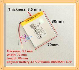 Battery Gps Polymer Australia - 3.7V 3000 mAh Polymer Lithium Battery LiPo For GPS Tablet PC 357080
