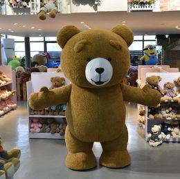 pink bear mascot costume 2019 - Inflatable Plush Bear Mascot Costume Adult Size discount pink bear mascot costume