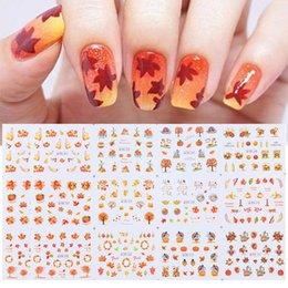 1 Set Motivi misti Nail art Stickers Acqua Trasferimento Albero foglia di frutta Cartoon Nail decalcomanie Manicure Bellezza Decorazione fai da te
