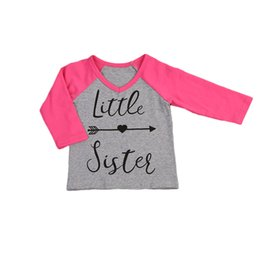 3dafb9cb1 Little Sister Toddler Baby Kids Girls Big Sister T-shirt Tops Family  Matching Outfits