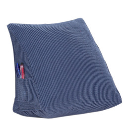 Aag Solid Color Reading Backrest Cushion Wedge Pillow Thick Corduroy Lumbar Back Pad Bed Office Chair Rest Back Support Cushion Cushion