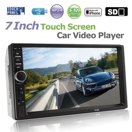 car mp3 mp5 player 2019 - 7 Inch 2 DIN Bluetooth In Dash Touch Screen Car Audio Video Stereo MP3 MP5 Player USB CMO_20O