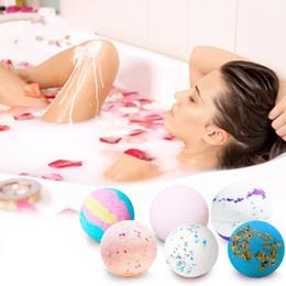 Bath Body oils online shopping - Deep Sea Bath Salt Body Essential Oil Bath Ball Natural Bubble Bath Bombs Ball Sakura Cream lavender Milk