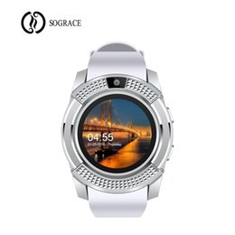$enCountryForm.capitalKeyWord Australia - New Arrival 2018 Smart Watch V8 with Camera Smartwatch Pedometer Clock Health Sport Men Women Smartwatch For Android