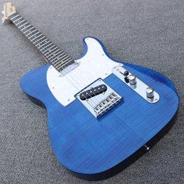 shopping china for guitar Canada - China guitars Custom Shop Tigre blue Maple Fingerboard 6 string TL Electric Guitar OEM Customizable exclusive LOGO