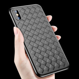 $enCountryForm.capitalKeyWord NZ - for apple iphone X 10 7 8 8plus Case Weave Leather texture Luxury breathable Soft Silicon case Black Coque Cover for iphone X 8 7plus 8plus