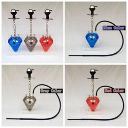 diamond types quality NZ - New Deluxe Colorful Hookah Shisha Pipe Acrylic One Hose Kit Diamond Shape Innovative Design luxurious Enjoy High Quality Hot Sale