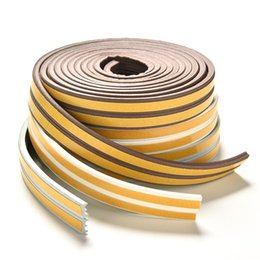 Chinese  5M I-Type Foam Draught Self Adhesive Window Door Excluder Rubber Seal Strip manufacturers