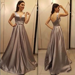 $enCountryForm.capitalKeyWord NZ - Real Picture Evening Dresses Ball Sleeveless A-Line V-Neck Plus Size Vestidos De Festa Party Dress Prom Formal Pageant Celebrity Gowns