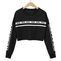 ffb62f033590f6 Discount white cropped sweater - 2017 New Women White Letter Print Crop  Sweatshirt Top Blouse Autumn
