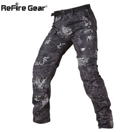 Full Military Gear NZ - ReFire Gear Camouflage Army Detachable Tactical Pants Men Summer Quick Dry Military Pants Knee Length Zipper Removable Trousers Y1892503