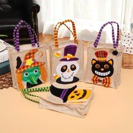 $enCountryForm.capitalKeyWord Australia - 4 Style Children Halloween Linen Pumpkin Bag Candy Bags Kids Halloween Party Gift Handbag Halloween Party Decorations