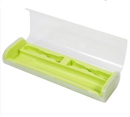 Wholesale Travel Portable Toothbrush Bag Portable Toothbrush Packaging Box Brush Case Protector Oral Care Tool Tootbrush Storage Yellow