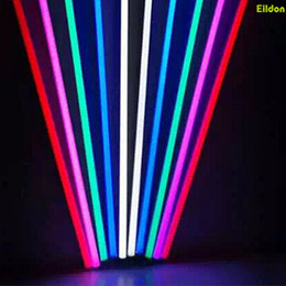 led linear tube UK - T8 T5 Color LED Tubes Lights 4ft 3ft 2ft AC220-240V 2835SMD G13 Integrated Red Green Blue Yellow 2835SMD Linear Lamps Direct Shenzhen China