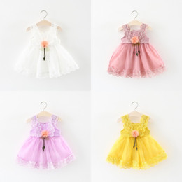 $enCountryForm.capitalKeyWord Australia - New Fashion Pageant Baby Girls Princess Sleeveless Lace Flower Tulle Tutu Ball Gown Formal Party Dresses