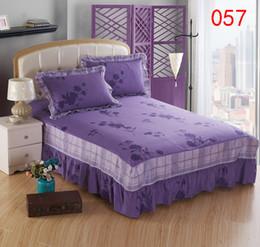 Großhandel Nacht Blume Baumwolle Bett Rock Matratzenbezug Petticoat Twin Voll Königin King Bett Röcke Tagesdecke BEDSKIRT 150x200cm 120x200cm