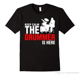 $enCountryForm.capitalKeyWord Canada - Graphic T Shirts Design Men Crew Neck Keep Calm The Drummer Is Here TShirt Short-Sleeve T Shirts