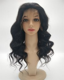 16 inch body wave wig 2019 - Best Fashion Long Body Wave Full Lace Wig 8-26 Inch In Stock Peruvian Virgin Hair Glueless Lace Front Human Hair Wigs Ch
