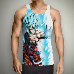 ad478aa939d0 Summer Anime Dragon Ball Z Vest Harajuku Style Sleeveless T-Shirt Goku  Vegeta 3d Print Unisex Casual Men Tank Tops