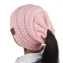 0845bac2e2c Girls Slouchy Beanies UK - 2018 Kids CC Beanies Winter knitting Hat For  Children Warm Cap