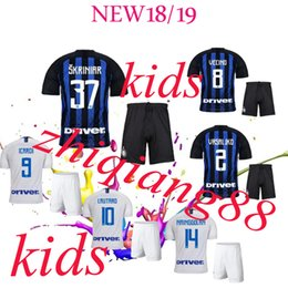 jersey shorts suit 2019 - Quality Home and away soccer jersey of the new season 2018  2019 ICARDI PERISIC NAINGGOLAN JOVETIC football kids suit je