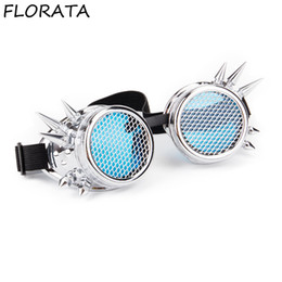 victorian sunglasses 2019 - FLORATA Hot Retro Unisex Goggles Steampunk Glasses Welding Cosplay Sunglasses Vintage Victorian Eyewear Barbed Frames ch