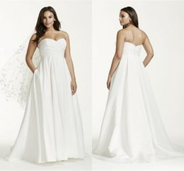 Plus Size Wedding Dress with Pockets