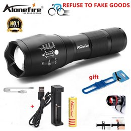 Discount lamp for camping - AloneFire E17 G700 XM-L T6 5000LM Bicycle Zoomable CREE LED Flashlight Torch Bike light lamp for 18650 Rechargeable Batt