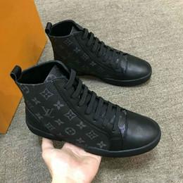0e46ed1498b En gros À La Mode De Luxe Marque Designer MATCH-UP Sneakers Bottes  formateurs Casual Chaussures High Top Monogram Sneaker pour Hommes Hommes  avec Box
