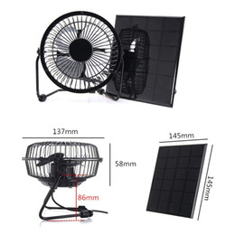 Solar panel cooling online shopping - High Quality Inch Cooling Ventilation Fan USB Solar Powered Panel Iron Fan For Home Office Outdoor Traveling Fishing