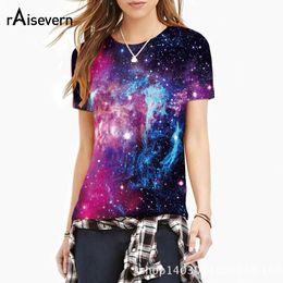 galaxy tees wholesale 2019 - Wholesale-Raisevern New Fashion Space Galaxy 3D Print T-shirt Men Women Harajuku Hip hop Brand T shirt Summer Tops Tees